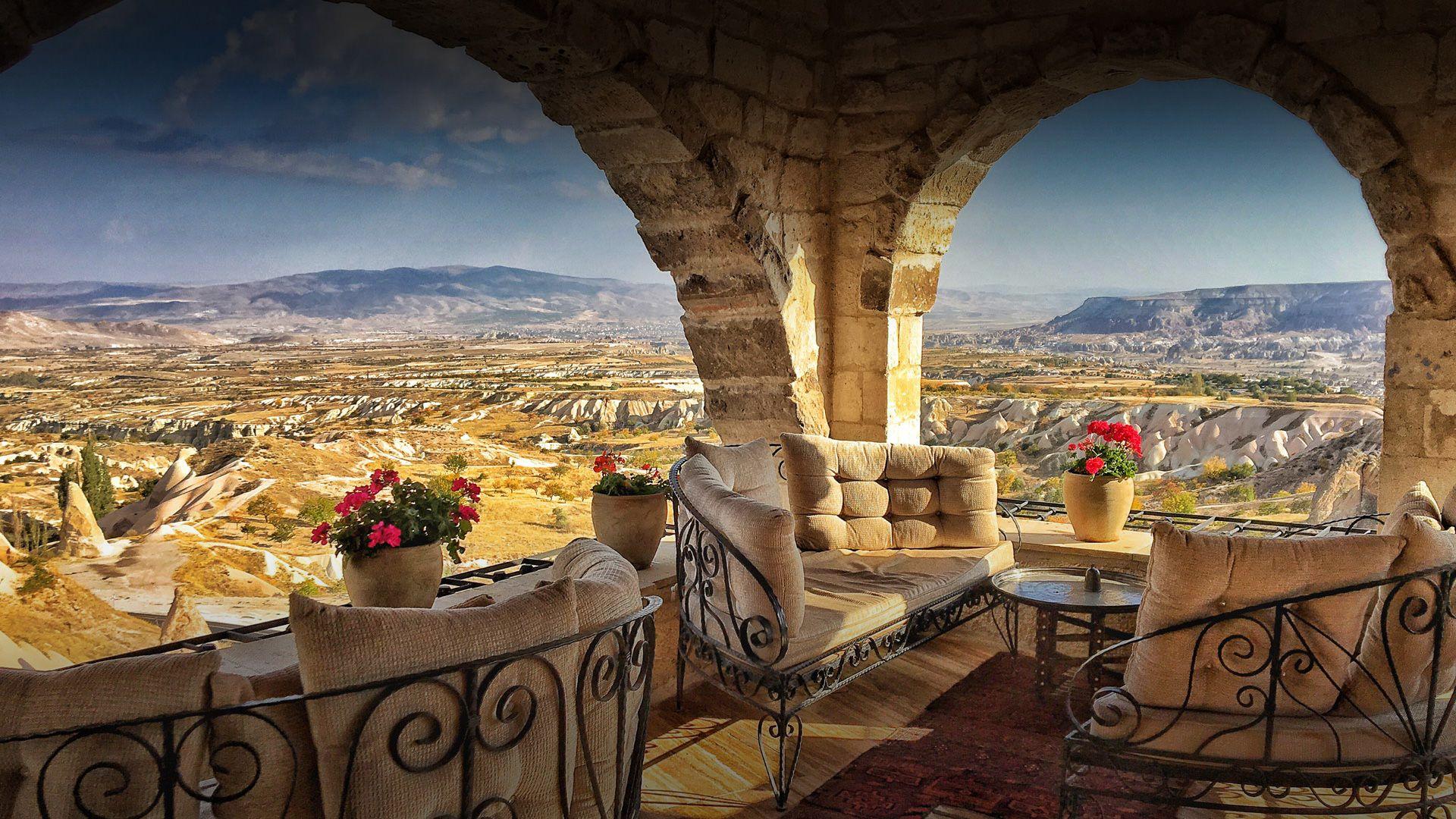 Uchisar Area, Cappadocia, Turkey  № 1427761  скачать